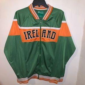 Ireland Logo Men's Full Zip Green Jacket Large